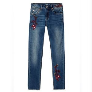 7 For All Mankind Girls Embroidered Skinny Jeans